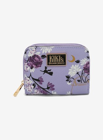 Studio Ghibli Kiki's Delivery Service Floral Mini Zip Wallet