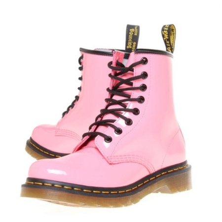 Dr. Martens Shoes | Rare Dr Martens Pastel Pink Pascal Combat Boots | Poshmark