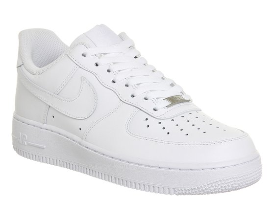Nike Air Force 1 Trainers White - His trainers