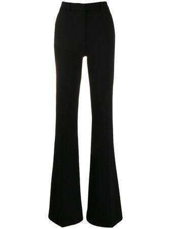 Alberta Ferretti Flared Trousers A03036621 Black   Farfetch