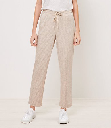 The Petite Tapered Drawstring Pant in Stripe