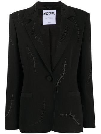 Moschino Blazer Con Detalles De Costuras - Farfetch