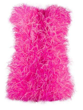 THE ATTICO feather mini dress
