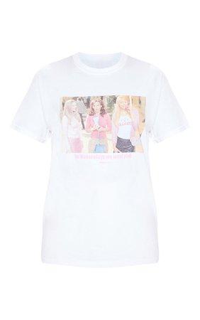White Mean Girls Wear Pink Slogan T Shirt | PrettyLittleThing USA