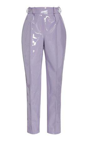 Faux Patent Leather Cropped Trouser by Christian Siriano | Moda Operandi