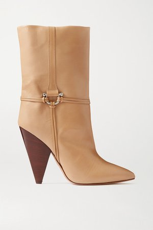 Lunder Leather Ankle Boots - Beige