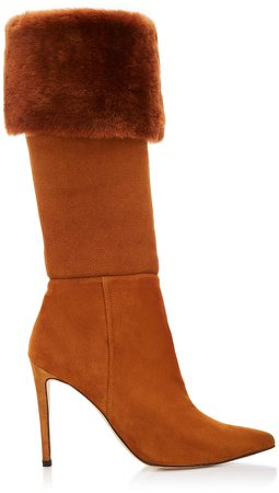 Eskimo Foldover Shearling Knee Boots Size: 35