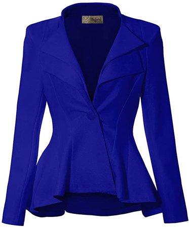 Women Double Notch Lapel Office Blazer JK43864 1073T Black 1X at Amazon Women's Clothing store