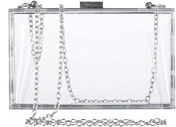 Clear Purse Bag Crossbody with silver chain
