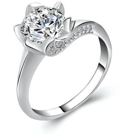 Silver/White Diamond Engagement ring