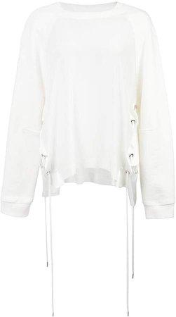 lace up sides sweatshirt