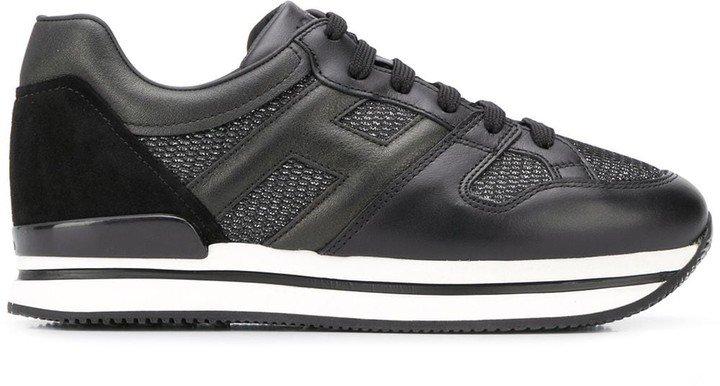 Panelled Flatform Sneakers