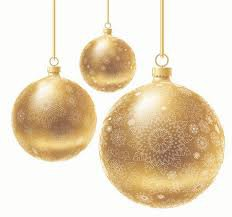gold christmas ornaments - Google Search