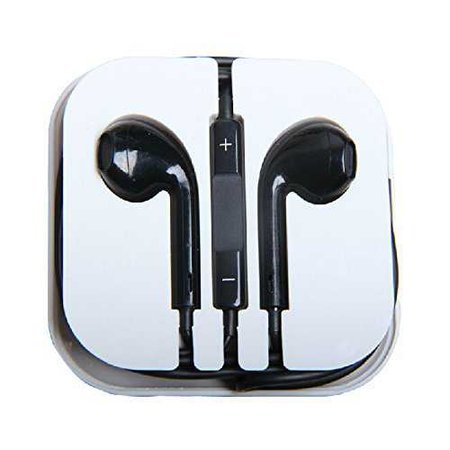 black apple earbuds