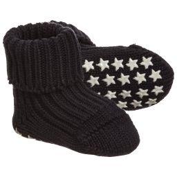 Falke - Baby Navy Blue Slipper Socks | Childrensalon
