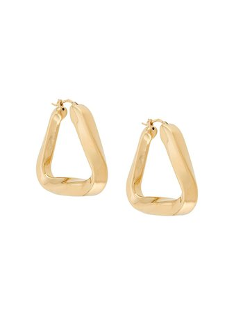 Bottega Veneta Triangular-Shaped Earrings | Farfetch.com