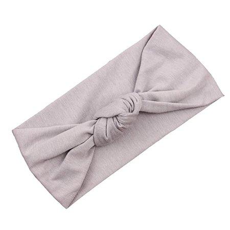 Amazon.com: Voberry Baby Girls Photo Props Turban Cotton Knot Headband Soft Head Wrap (Gray): Clothing