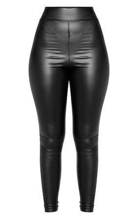 Black Wet Look High Waisted Legging | PrettyLittleThing
