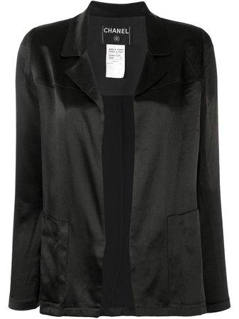 Chanel Pre-Owned 2002 no fastening silk blazer jacket - FARFETCH