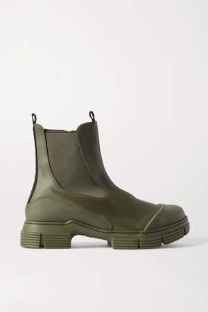 Rubber Chelsea Boots - Army green