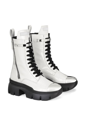 Giuseppe Zanotti Patent Track Sole Boots - Farfetch