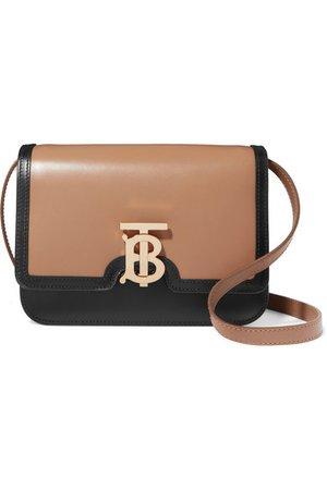 Burberry | TB two-tone leather shoulder bag | NET-A-PORTER.COM