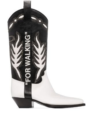 Off-White For Walking Cowboy Boots Aw19 | Farfetch.Com