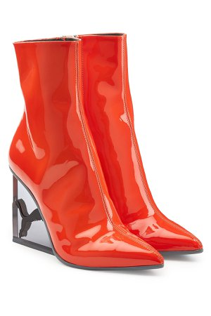 Patent Leather Ankle Boots Gr. UK 5.5