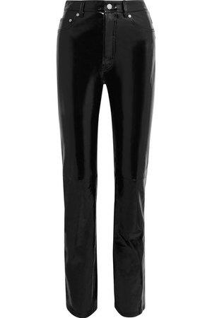 Helmut Lang | Patent-leather straight-leg pants | NET-A-PORTER.COM