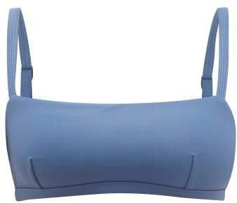 Matteau - The Square Crop Bikini Top - Womens - Blue