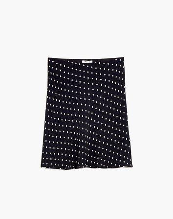 Mini Slip Skirt in Polka Dot