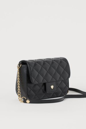 Quilted Shoulder Bag - Black