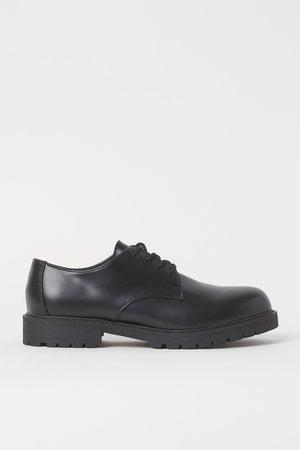 Derby shoes - Black - Men | H&M GB
