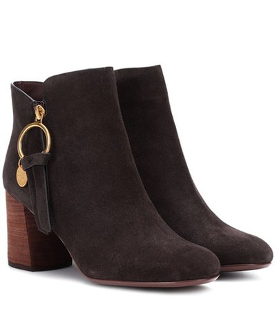 Louise Medium suede ankle boots
