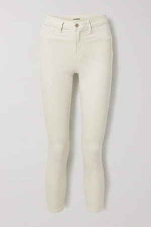 Margot Cropped High-rise Skinny Jeans - White