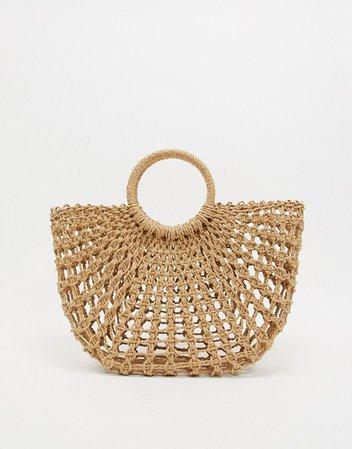 ASOS DESIGN straw basket bag   ASOS