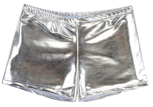 Metallic Silver Shorts