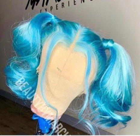 blue lace wig