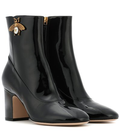 Gucci - Patent leather ankle boots | Mytheresa