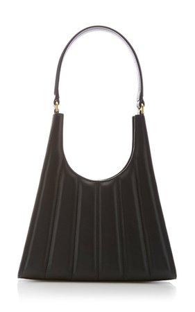 Rey Striped Leather Shoulder Bag By Staud | Moda Operandi