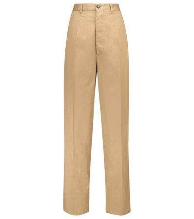 Tod's - Stretch-cotton wide-leg pants   Mytheresa