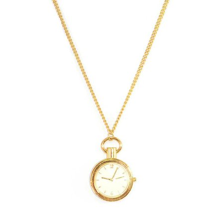 clock necklace gold - Google Search