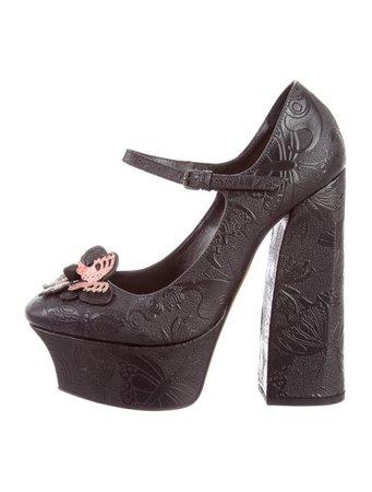 Bottega Veneta Butterfly Mary Jane Pump w/ Tags - Shoes - BOT43325 | The RealReal