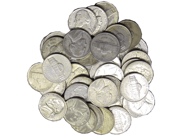 35% SIlver Jefferson War Nickels $2 Face (Roll)