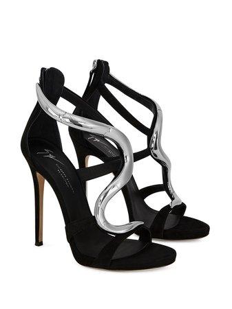 Giuseppe Zanotti Venere metallic-snake Sandals - Farfetch