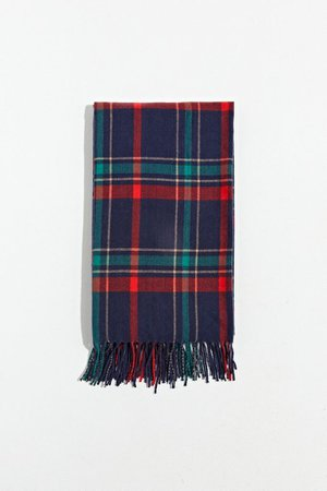 Plaid Blanket Scarf   Urban Outfitters