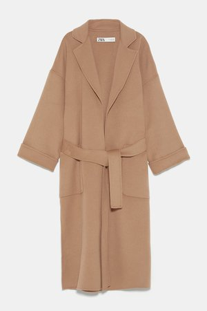 PATCH POCKET COAT - NEW IN-WOMAN | ZARA United States camel