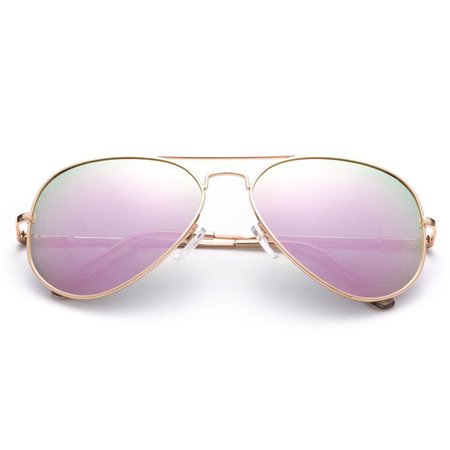Newbee Fashion - Polarized Aviator Sunglasses Mirrored Lens Classic Aviator Polarized Sunglasses Small - Walmart.com - Walmart.com