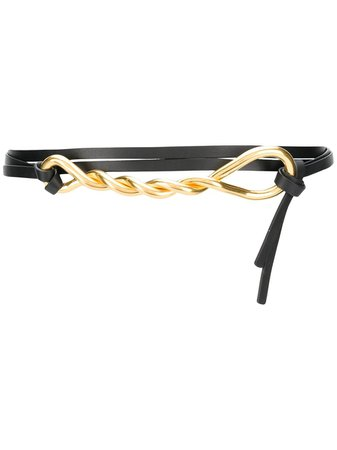 Bottega Veneta Twisted Metal Leather Belt - Farfetch
