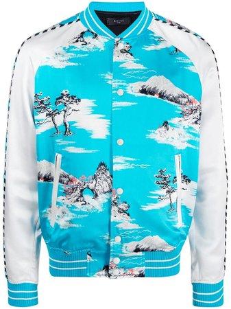 AMIRI Hawaiian-print Bomber Jacket - Farfetch